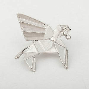 Fashion Gold Silver Geometry Origami Animal Brooches Metal