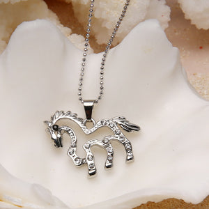 Cute Horse Design Pendant Chain Necklace