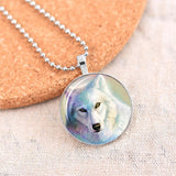 Hot Wolf  Glass Glowing in the Dark Pendant Necklaces