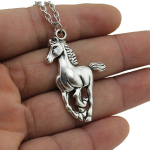 "2017 New Women Jewelry Vintage Silver Tone 1.0""X1.5"" Cool Horse Pendant"