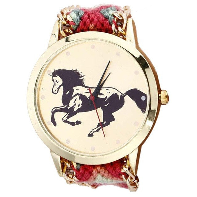 Watch Women Casual Quartz Watches Geneva Horse