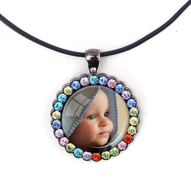 PERSONALIZED PHOTO PENDANT  of Your Baby Child Mom Dad Grandparent Loved One Gift for Family Member Gift