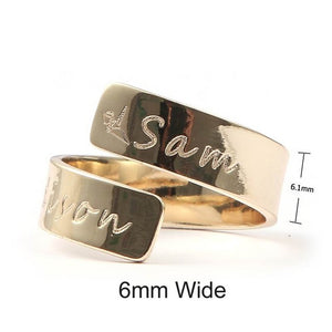 Custom Name Ring Personalized Letter Ring - Gift for Her