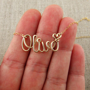 Custom Name  Chain Necklace handmade