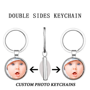 Personalized Custom Keychains Photo of Your Lovers Baby Family