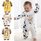 Newborn Rompers Cows Cute Baby Clothes  0-24M