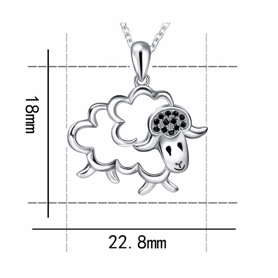 Sterling Silver Chain Sheep Pendant Necklace