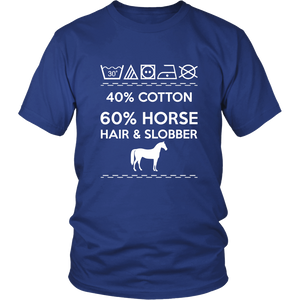 40% Cotton 60% Horse Hair & Slobber