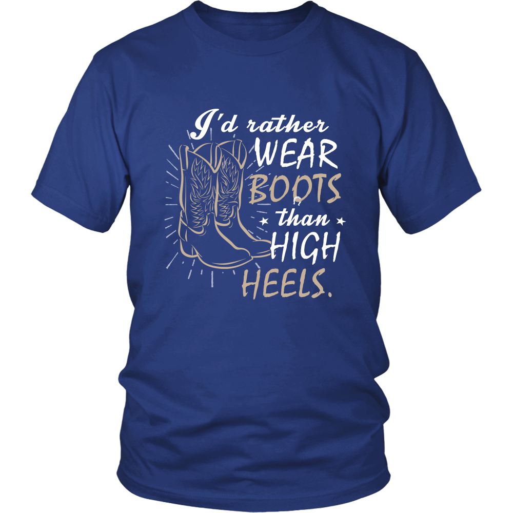I'd Rather Wear Boots Than High Heels