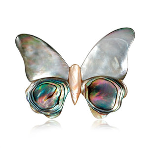 Vintage Butterfly Shell Brooches