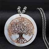 Shell Tree of Life Long Necklace