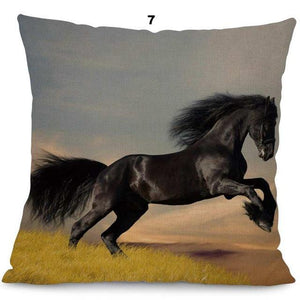New Running Horse Cushion Cover - Home Decor