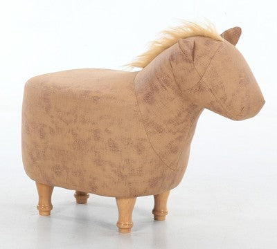 Pony modeling solid wood shoes stool - living room sofa