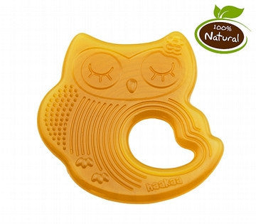 Natural Owl Sleeping Silicone Teethers