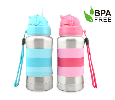 270ml  Standard Neck Stainless Steel Thermal  Straw Bottle