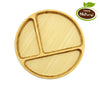Bamboo Utensil Set 3 Piece With Round Plate