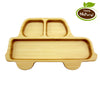 Bamboo Utensil Set 3 Piece With Car-Shaped Plate