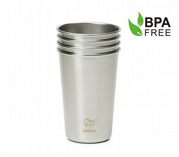 300ml and 450ml Stainless Steel Cup (Pack of 4)