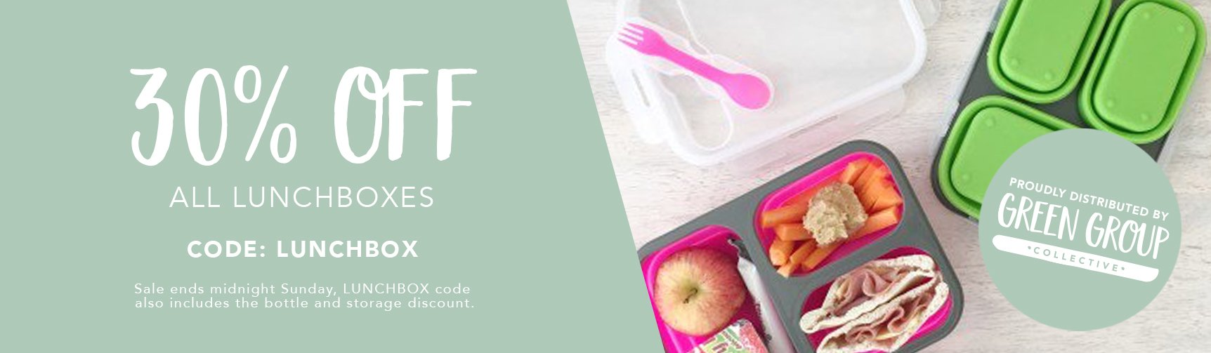 Get 30% off all Lunchboxes today