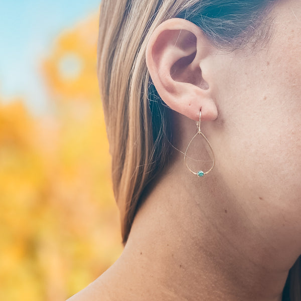 Olympia Turquoise Inlay Earrings