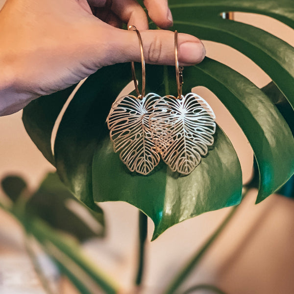 PRE-ORDER Monstera Earrings