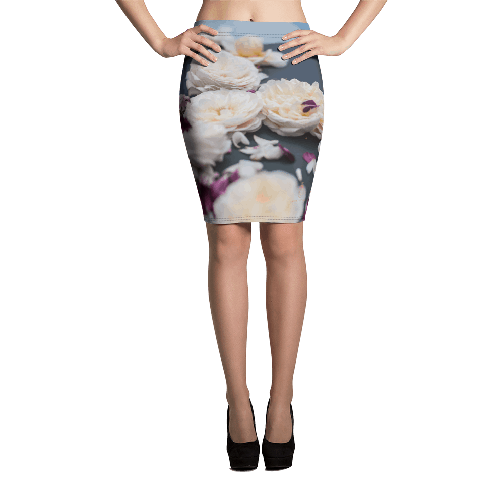 Pencil Skirt - Rose Sky