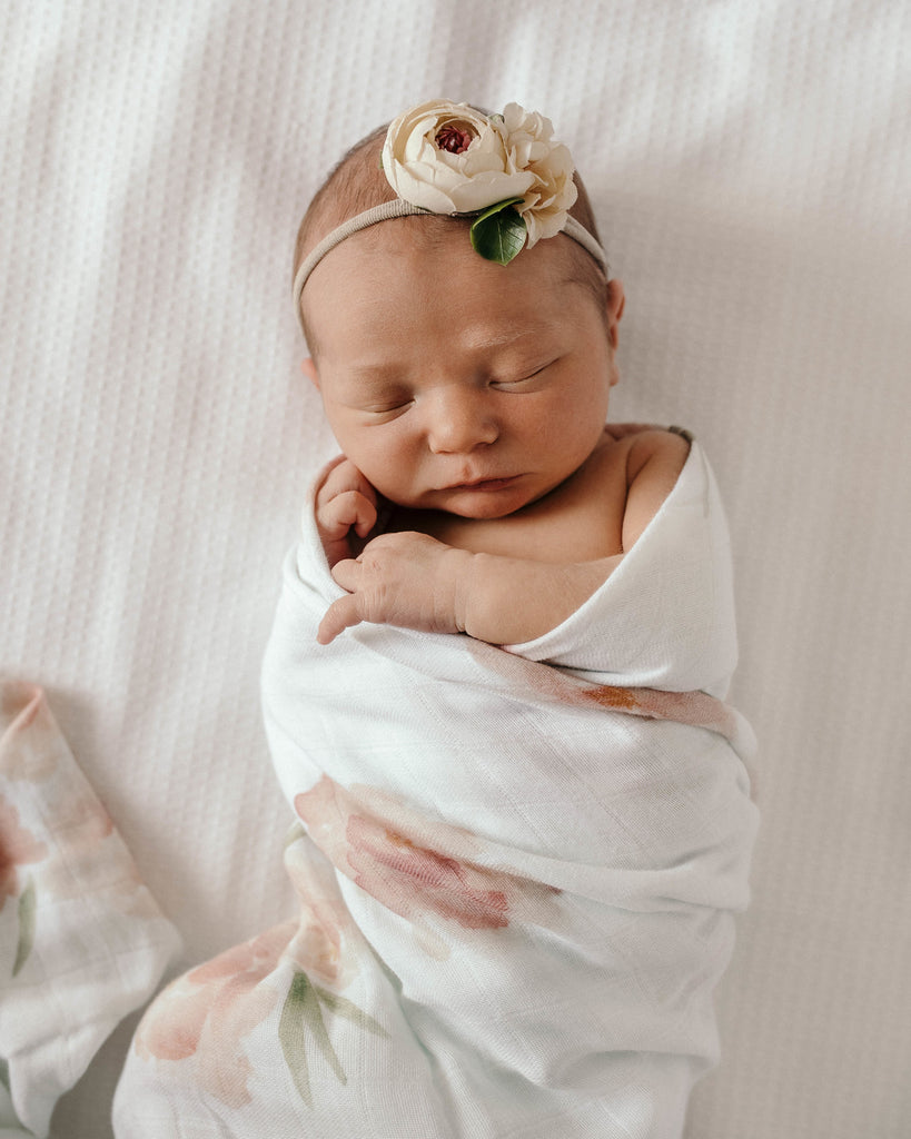 Sorbet Bloom I Organic Muslin Wrap
