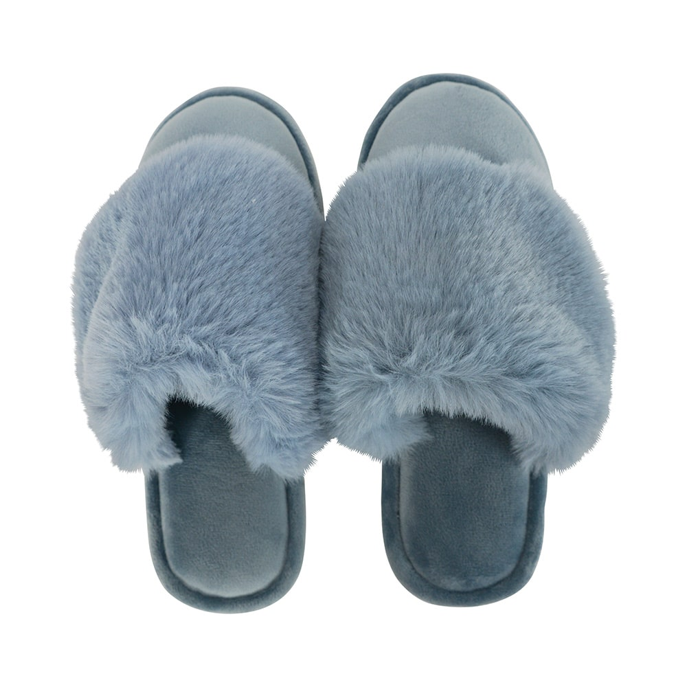 Cosy Luxe Slippers - Dusty Blue