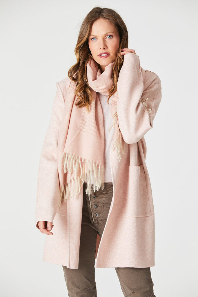 Soft Check Scarf - Pale Pink