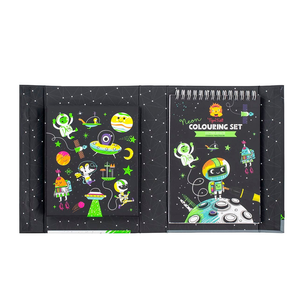 'Outer Space' Neon Colouring Set