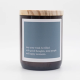 HEARTFELT QUOTE SOY CANDLE - Good, Kind Happy
