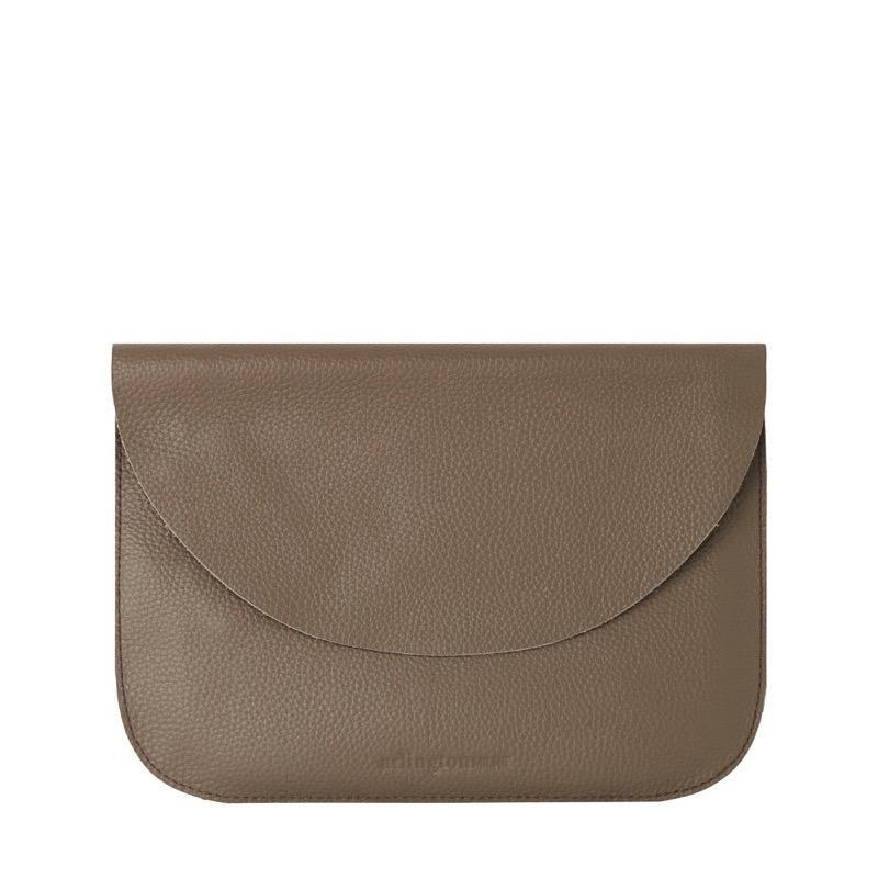 Ella Leather Pouch - Khaki