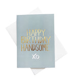 'Handsome' gold foil card