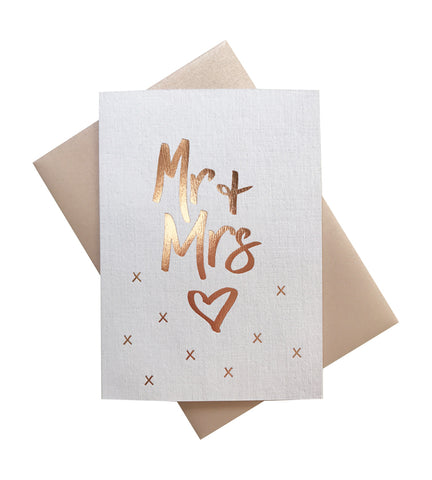 'Kiss Kiss' gold foil card