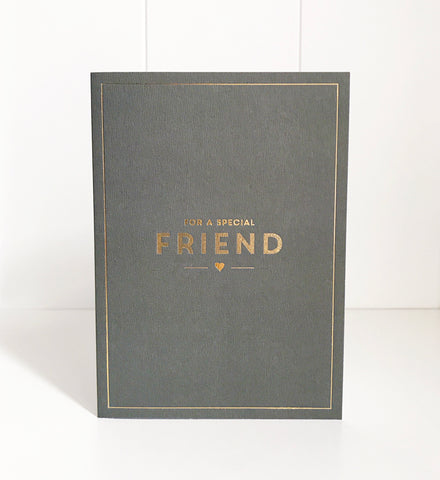 'Special Friend' foil gift mini card