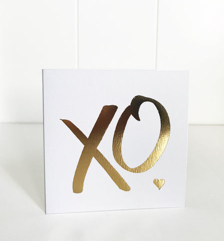 'Engagement' gold foil card