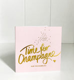 'Time for Champagne' foil mini gift card