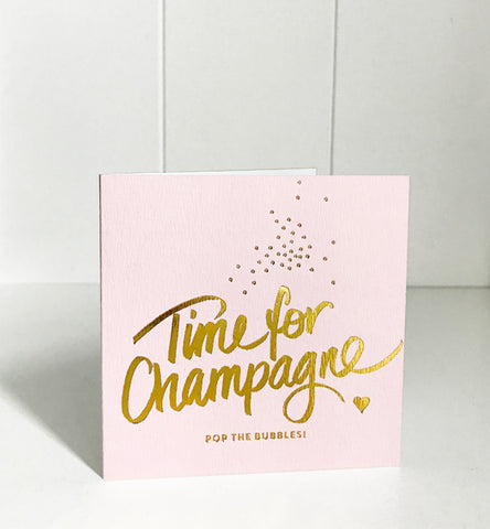 'Time to Celebrate' gold foil card