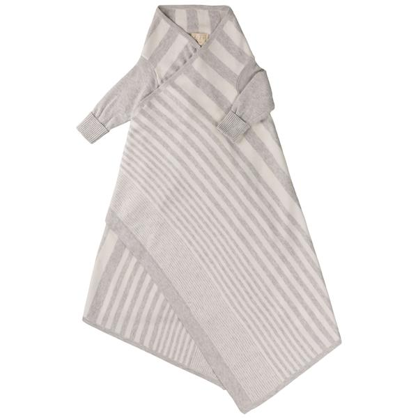 Phased Stripe Shwrap™ - Silver/Ecru