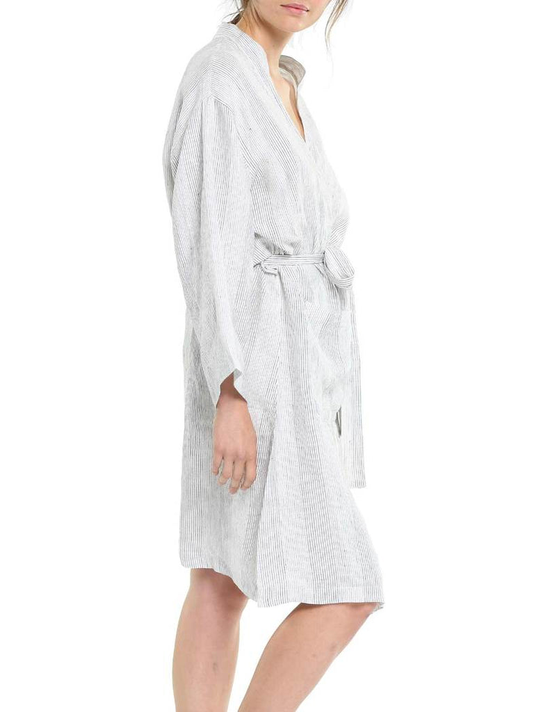 RESORT LINEN STRIPE ROBE