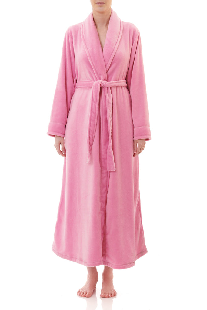 Long Wrap Gown - Cameo Pink