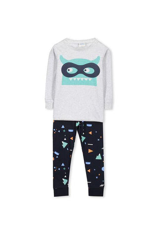 Mask Print Drop Crotch Baby Pants