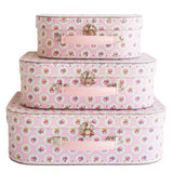 SUITCASE SET FLORAL MEDALLION