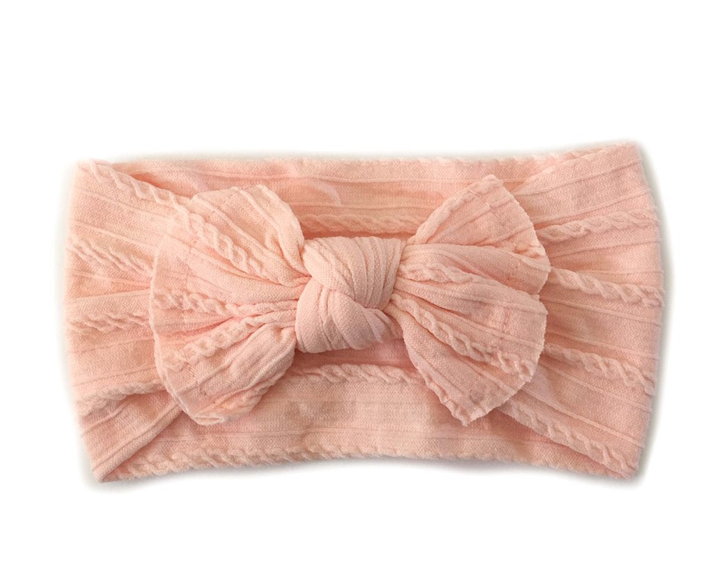 Knotted Headband - Pale Peach