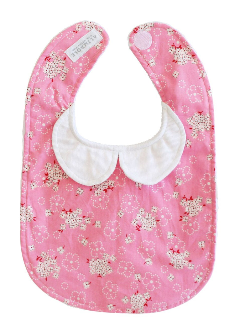 Peter Pan Collar Bib - Pink Bouquet