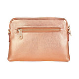 Bowery Wallet / Cross Body Bag - Metalic Rose