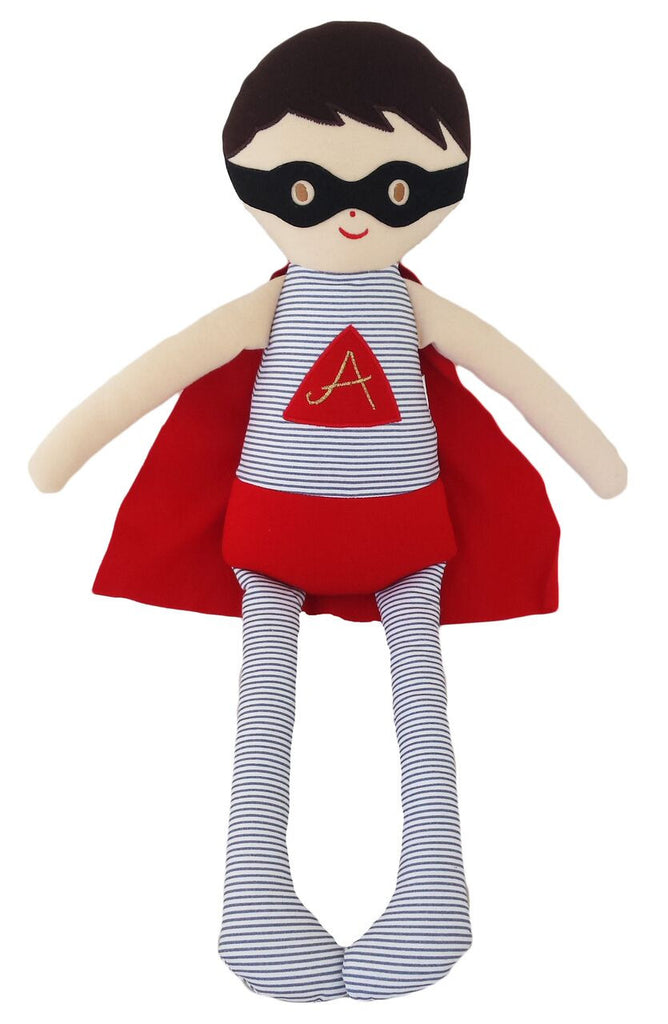 Superhero Doll Large Grey Red