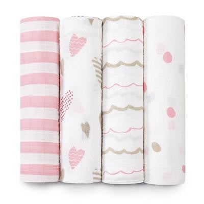 For The Birds Swaddle 4 pack
