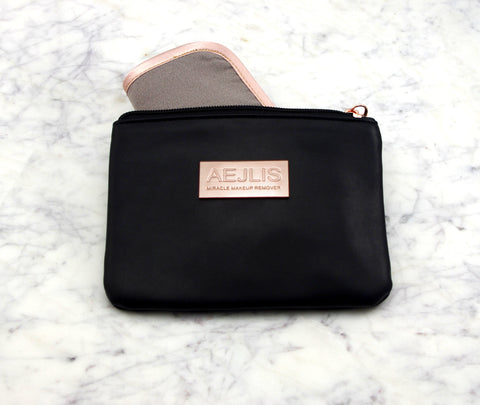 Chloe Eye Mask in Monochrome Stripe