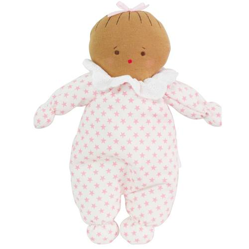 ASLEEP AWAKE BABY DOLL 24CM - PINK STARS